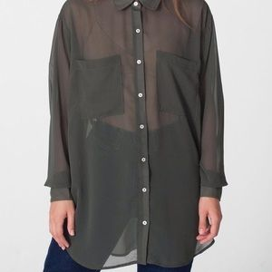 American Apparel Oversized Chiffon Blouse